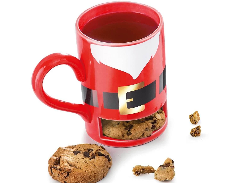 Becher mit Keksfach - Besondere Tasse zu Weihnachten - Tasse mit Keksfach - Keksfachtasse