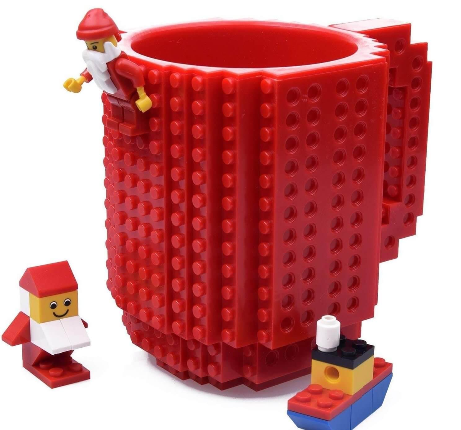 Lego Weihnachtsbecher Becher zu Weihnachten Tasse zu Weihnachten Tasse zur Vorweihnachtszeit Tassen für Männer