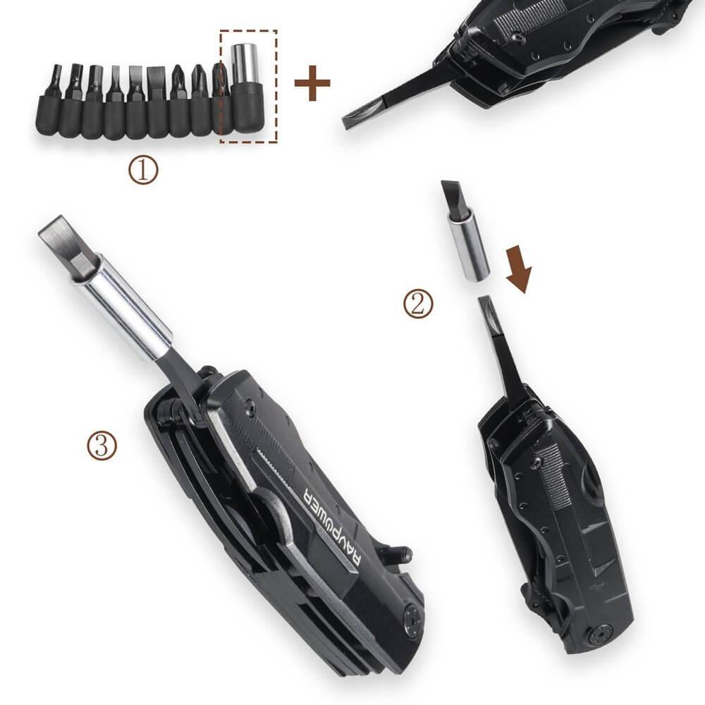 5 in 1 Multifunktions-Tool Multifunktionstaschenwerkzeug für Wanderungen und Campingausflügen2