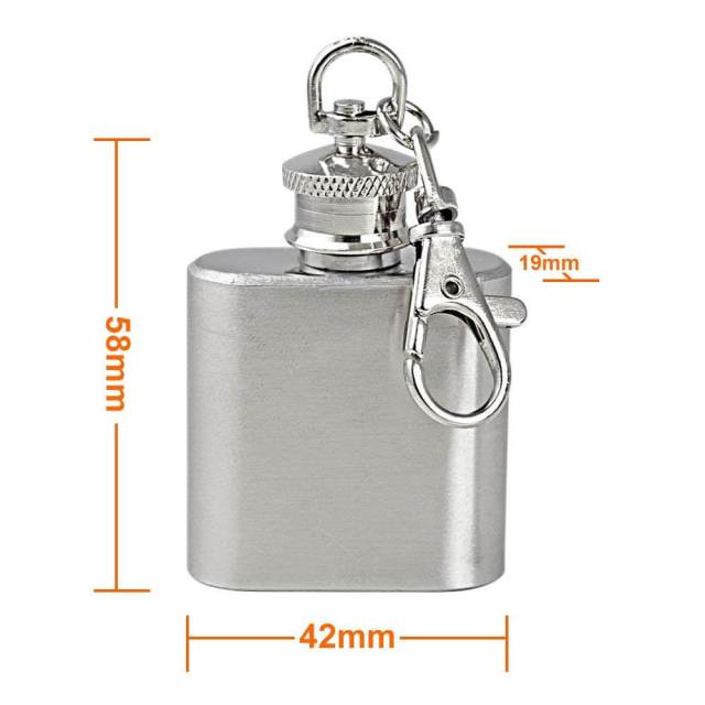 Flachmann Schlüsselanhänger Für die Männer die kein Problem damit haben ihren Flachmann auch in der Öffentlichkeit zu präsentieren 4
