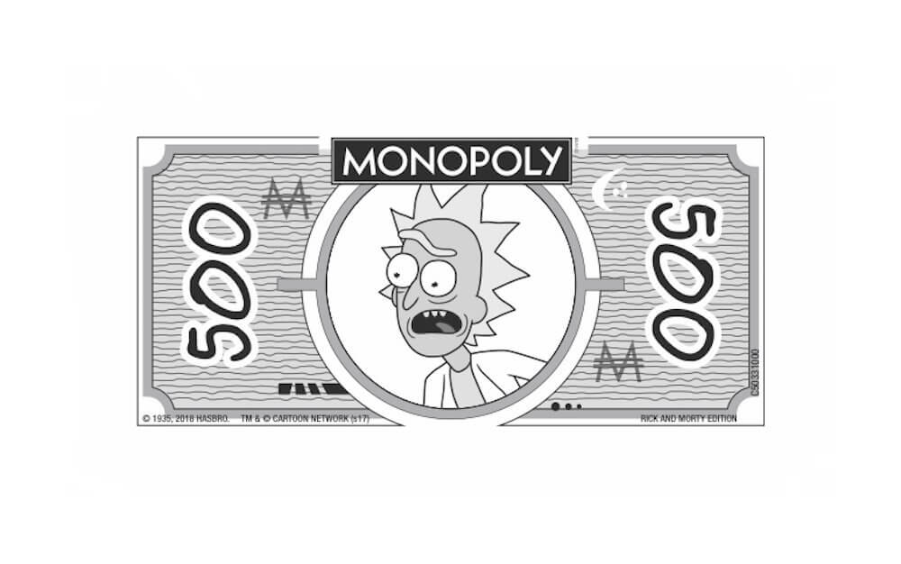 Monopoly Rick and Morty Edition Geld