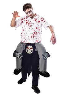 103 Carry Me Kostüm Sensenmann der Tod Huckepack Kostüm Sensenmann Verkleidung Fabelwesen Piggyback Ride On auf Schultern Faschings Karneval Kostüm Halloween Junggesellenabschied
