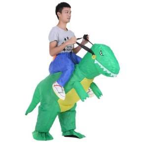 118 Carry Me Kostüm aufblasbarerer Dinosaurier Huckepack Kostüm Dino T-Rex Verkleidung Fabelwesen Piggyback Ride On auf den Schultern Kostüm Faschings Karneval Kostüm Halloween JGA