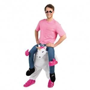 129 Carry Me Kostüm tuffiges Einhorn Huckepack Kostüm Einhorn Verkleidung Fabelwesen Piggyback Ride On auf den Schultern Faschings Karneval Kostüm Halloween JGA Carry Me Bestseller