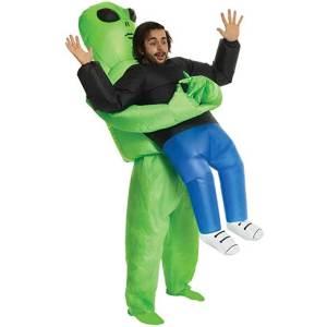 132 Carry Me Kostüm aufblasbares Alien Huckepack Kostüm Ausserirdische Verkleidung Fabelwesen Piggyback Ride On auf den Schultern Kostüm Faschings Karneval Kostüm Halloween JGA