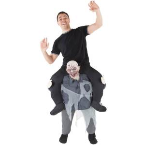 150 Carry Me Kostüm böser Zombie Duo Huckepack Kostüm Zombie Verkleidung Fabelwesen Piggyback Ride On auf den Schultern Faschings Karneval Kostüm JGA Carry Me Bestseller