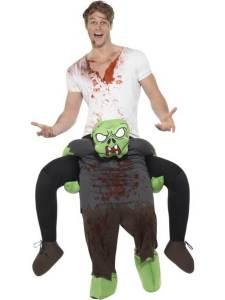 152 Carry Me Kostüm Comic Zombie Huckepack Kostüm Cartoon Zombie Verkleidung Fabelwesen Piggyback Ride On auf den Schultern Faschings Karneval Kostüm Halloween JGA Carry Me Bestseller