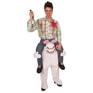 155 Carry Me Kostüm Zombie Hase Huckepack Kostüm Hase als Zombie Verkleidung Fabelwesen Piggyback Ride On auf den Schultern Faschings Karneval Kostüm Fastnacht JGA Carry Me Bestseller