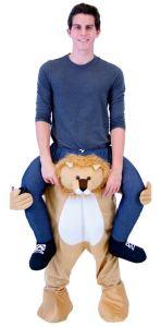 18 Huckepack Löwe Kostüm Löwen Verkleidung Tierkostüm Piggyback Ride On auf den Schultern Kostüm Faschings Geschenk Karneval Kostüm Halloween Fastnacht