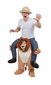 19 Huckepack Löwe Huckepack Kostüm Löwe Rosenmontagszug Verkleidung Tierkostüm Tierkostüm Piggyback Ride On auf dem Rücken Kostüm Faschings Kostüme Karnevalsverkleidung