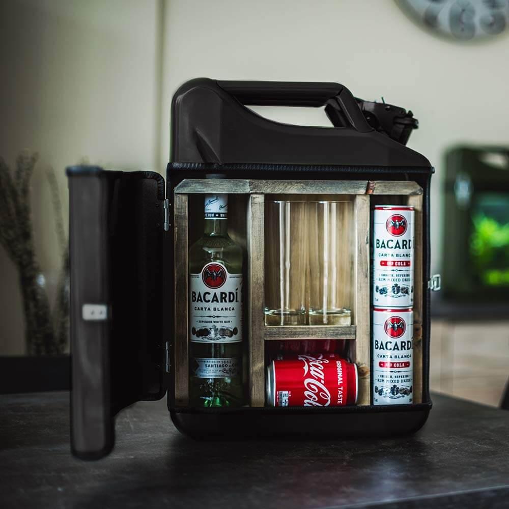 20l Kanister Bar Schwarz Das Whiskyversteck Aus Retro-Benzinkanistern 3