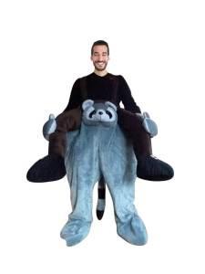 36 Huckepack Waschbär Kostüm Waschbär Verkleidung Tierkostüm Piggyback Ride On auf den Schultern Kostüm Faschings Geschenk Karneval Kostüm Halloween Fastnacht Ohne Rotkäppchen