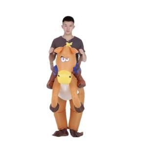 43 Carry Me Huckepack Kostüm aublasbares Pferd Pferde Esel Verkleidung Tierkostüm Piggyback Ride On auf den Schultern Faschings Karneval Halloween Fastnacht Ohne Rotkäppchen