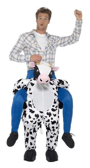 57 Carry Me Kostüm lustiges Kuh Huckepack Kostüm Kuh Verkleidung Tierkostüm Piggyback Ride On auf den Schultern Faschings Karneval Kostüm Halloween JGA Junggesellenabschied