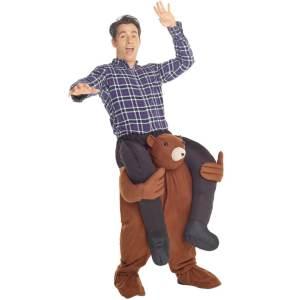7 Huckepack Bär Teddybär Tierkostüm Piggyback Ride On auf dem Rücken Kostüm Faschings Geschenk Karneval Kostüm
