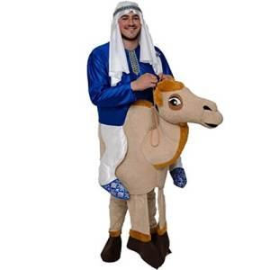 72 Carry Me Kostüm Scheich auf Kamel Huckepack Kostüm Kamel Verkleidung Tierkostüm Piggyback Ride On auf Schultern Kostüm Faschings Karneval Kostüm Halloween JGA Junggesellenabschied