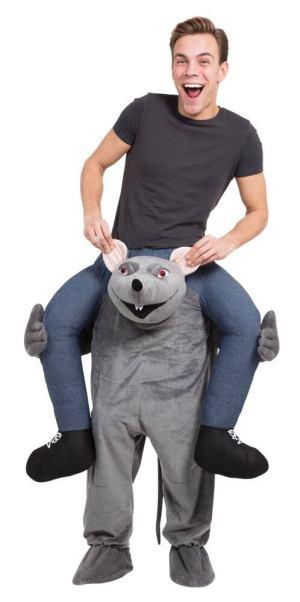 74 Carry Me Kostüm Ratte Huckepack Kostüm Ratte Verkleidung Tierkostüm Piggyback Ride On auf den Schultern Kostüm Faschings Karneval Kostüm Halloween JGA Junggesellenabschied