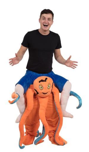 79 Carry Me Kostüm Tintenfisch Huckepack Kostüm Tintenfisch Verkleidung Tierkostüm Piggyback Ride On auf den Schultern Faschings Karneval Kostüm Halloween Fastnacht Junggesellenabschied