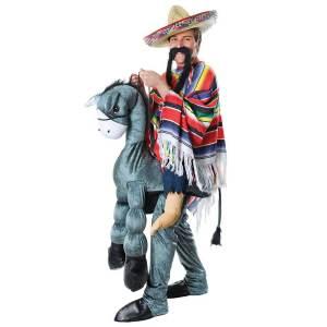 81 Carry Me Kostüm auf Esel-Rücken reiten Huckepack Kostüm Esel Verkleidung Tierkostüm Piggyback Ride On auf den Schultern Faschings Karneval Kostüm Halloween JGA Junggesellenabschied