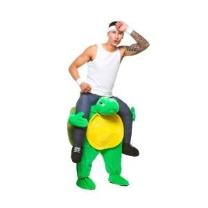 83 Carry Me Kostüm Schildkröte Huckepack Kostüm Schildkröte Verkleidung Tierkostüm Piggyback Ride On auf den Schultern Faschings Karneval Kostüm Halloween JGA Junggesellenabschied
