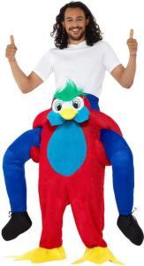 84 Carry Me Kostüm Papagei Huckepack Kostüm Papagei Verkleidung Tierkostüm Piggyback Ride On auf den Schultern Faschings Karneval Kostüm Halloween JGA Junggesellenabschied