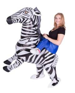 86 Carry Me Kostüm Zebra Huckepack Kostüm Zebra Verkleidung Tierkostüm Piggyback Ride On auf den Schultern Faschings Karneval Kostüm Halloween Fastnacht JGA Junggesellenabschied