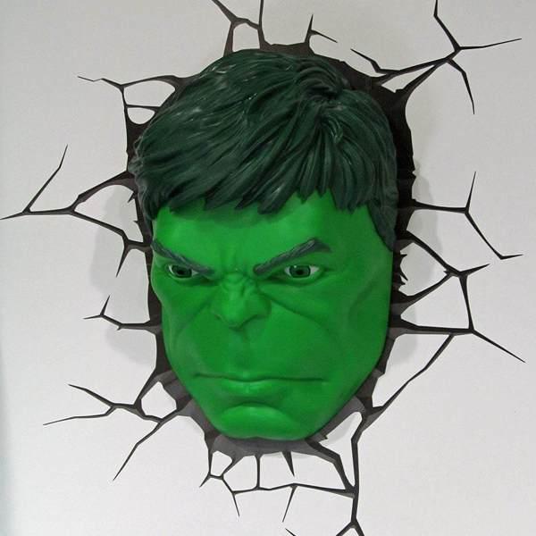 Superhelden 3D Wandleuchten – Optisch ein Highlight - Hulk
