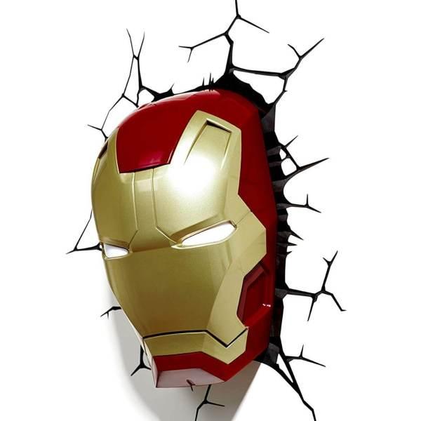 Superhelden 3D Wandleuchten – Optisch ein Highlight - Ironman 3