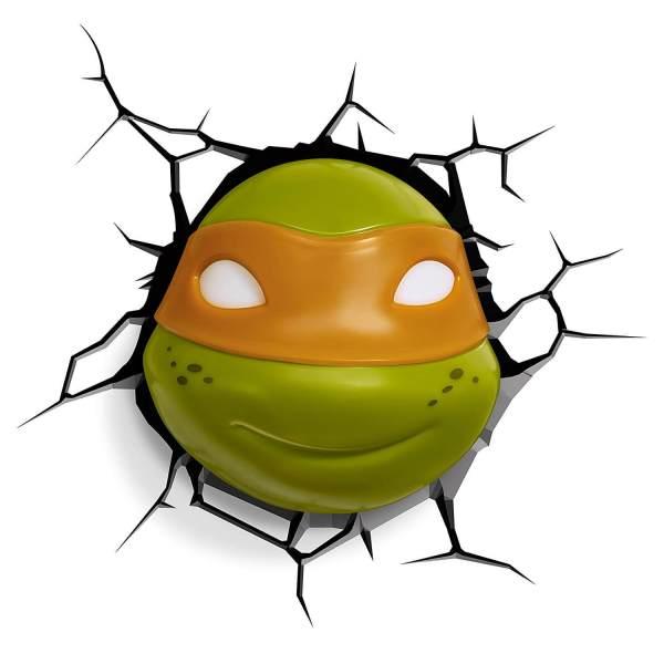Superhelden 3D Wandleuchten – Optisch ein Highlight - Turtles Michelangelo 2