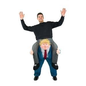 204 Carry Me Kostüm Donald Trump Huckepack Kostüm Präsident der USA Trump Verkleidung Fabelwesen Piggyback Ride On auf den Schultern Kostüm Faschings Karneval Kostüm Halloween JGA DIY