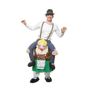 233 Carry Me Kostüm Bayrische Frau Huckepack Kostüm Bierträgerin Bierzeltdame Verkleidung Fabelwesen Piggyback Ride On auf den Schultern Faschings Karneval Kostüm Halloween JGA DIY