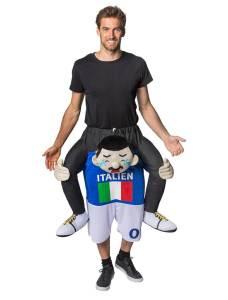 243 Carry Me Kostüm vom Wrestler gehalten Verkleidung Fabelwesen Piggyback Ride On auf den Schultern Faschings Karneval Kostüm Halloween JGA DIY