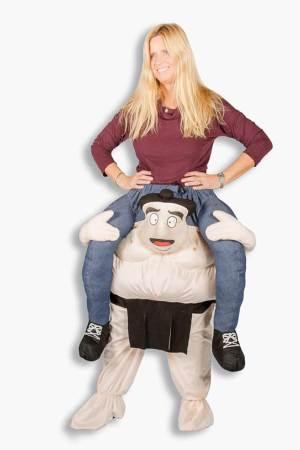 245 Carry Me Kostüm Lift Me Up Sumo Wrestling Verkleidung Piggyback Ride On auf den Schultern Faschings Karneval Kostüm Halloween Junggesellenabschied DIY