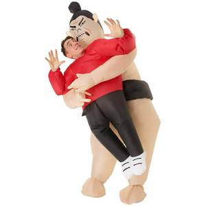 249 Carry Me Kostüm Lift Me Up aufblasbarerer Sumo Wrestler Verkleidung Piggyback Ride On auf den Schultern Faschings Karneval Kostüm Halloween Junggesellenabschied DIY