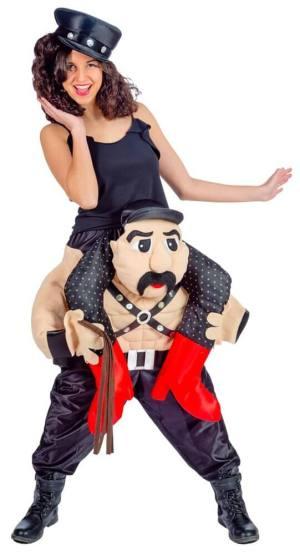 252 Carry Me Kostüm Sado Maso Sklave Slave Verkleidung Piggyback Ride On auf den Schultern Faschings Karneval Kostüm Halloween Junggesellenabschied DIY