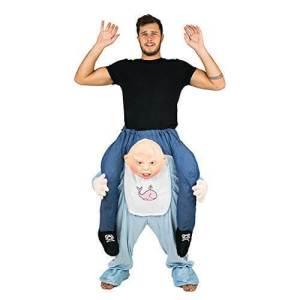 255 Carry Me Kostüm Riesenbaby Verkleidung Piggyback Ride On auf den Schultern Baby Faschings Karneval Kostüm Halloween Junggesellenabschied DIY