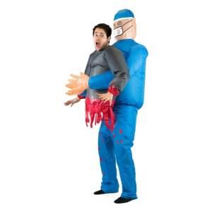 303 Carry Me Kostüm Arzt LIFT ME UP Verkleidung Piggyback Ride On auf den Schultern OP schief gelaufen Faschings Karneval Kostüm Halloween Junggesellenabschied DIY