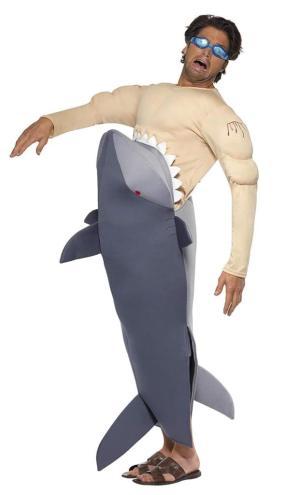 307 Carry Me Kostüm vom Hai gefressen LIFT ME UP Verkleidung Piggyback Ride On auf Schultern getragen Menschenfressender Hai Faschings Karneval Kostüm Halloween Junggesellenabschied