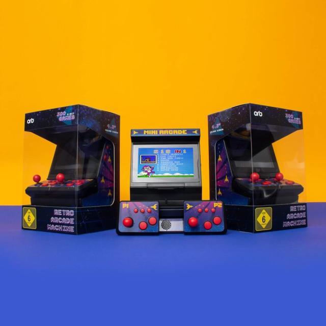 Dual Mini Arcade 300 8-Bit Spiele Retro Männergeschenk