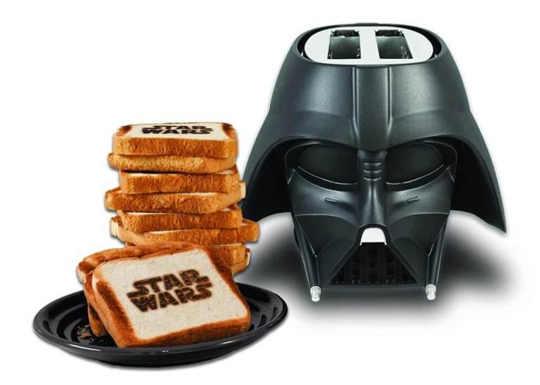 """Star Wars Toaster Star Wars""""-Schriftzug auf beiden Seiten vom Toast"""