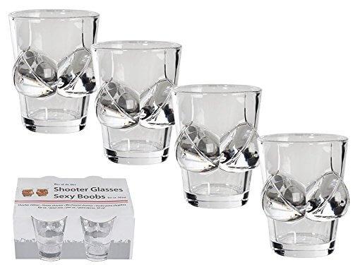 1 Brüste Schnapsgläser - Shotgläser im Brüste Design - Titten Shot Becher - Tequila Gläser - Schnaps Becher - Stamperl - Pinneken - Pinnchen - Schott Glas - Gläser Set