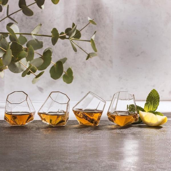 23 4 Diamant Schnapsgläser - Edel - Diamant Shotgläser im edlen Design - Shot Becher - Tequila Gläser - Schnaps Becher - Stamperl - Pinneken - Pinnchen - Schott Glas - Gläser Set
