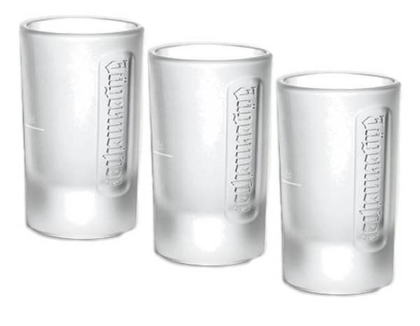 5 6 Frozen Effekt Jägermeister Schnapsgläser - Shotgläser im edlen Design - Gefrorene Shot Becher - Tequila Gläser - Schnaps Becher - Stamperl - Pinneken - Pinnchen - Schott Glas - Gläser Set