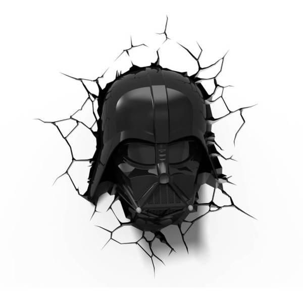 Star Wars 3D Wandlampe - Darth Vader - Superhelden Lampe - Wandlampe in 3D - Durch die Wand Lampe - 3D Lampe Star Wars
