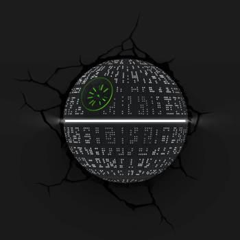 Star Wars 3D Wandlampe - Todesstern an - Superhelden Lampe - Wandlampe in 3D - Durch die Wand Lampe - 3D Lampe Star Wars