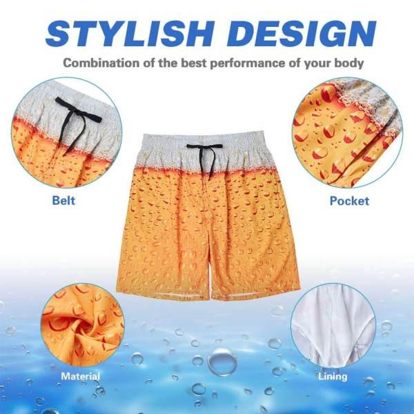 Bier Badehose Perfektes Strand-Outfit Sommergeschenk für den Mann 3