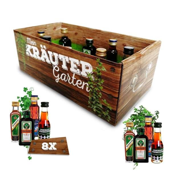 Männer-Kräutergarten Schnaps in der Box Alkohol männertaugliches Geschenk