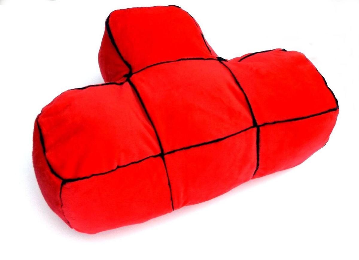 Tetris Kissen Geschenk für Gamer Tetris Stein Design 2