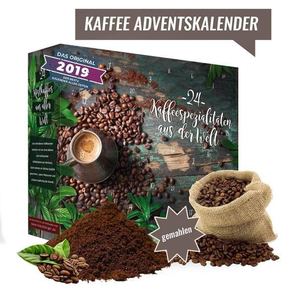 26 Adventskalender für Männer - 24 Kaffeegeschenke für den Mann - Kaffee aus aller Welt als Adventskalender