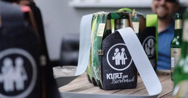 Sixpack Bierträger Herrenhandtasche Sixpack einfach wie eine Tasche tragen 6